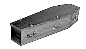 coffin bw